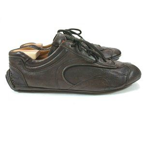 Authentic 4E1165 Prada Brown Leather Drivers Sz 11
